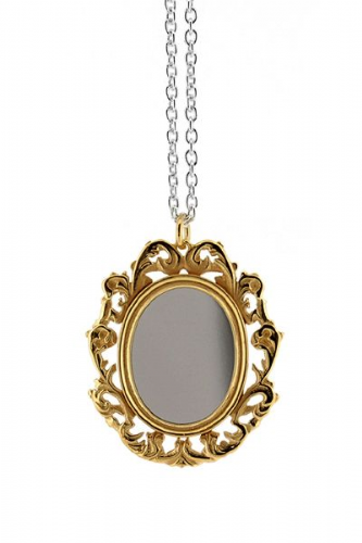 Silver Mirror Necklace